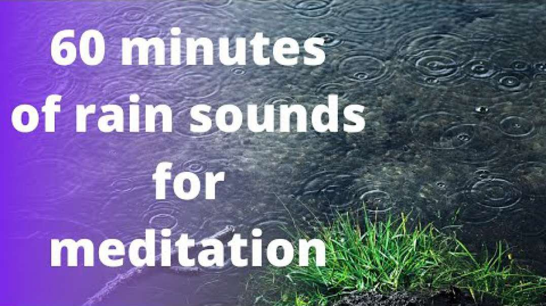 Rain Sound - 60 Minutes of Relaxing Rain Sound for Meditation and Sleep