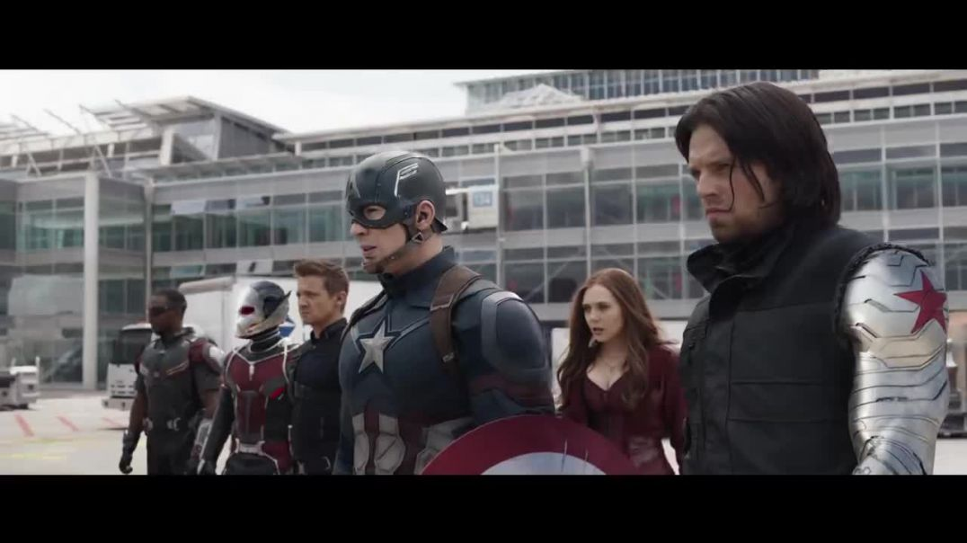 Team Iron Man vs Team Cap - Airport Battle Scene - Captain America_ Civil War