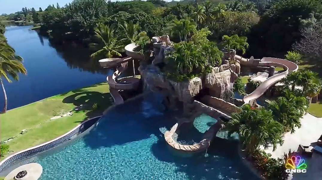 Mansions With Backyard WaterParks And Insane Pools: Cnbc Make It.