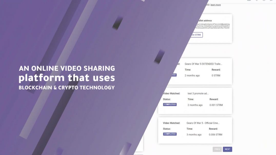 Streemie - Blockchain Enhanced Video Sharing Platform
