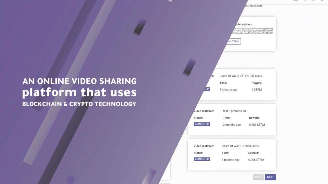 Streemie - Blockchain Enhanced Video Sharing Platform