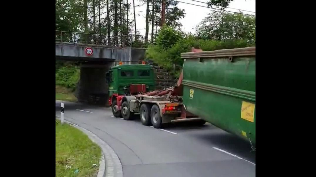 How to get a high lorry under a low bridge!
