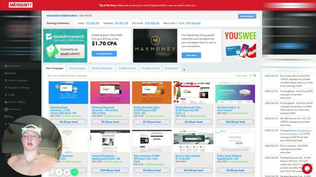 21yr Old Makes $79k In 27 Days Online Marketing (Make Money Online)