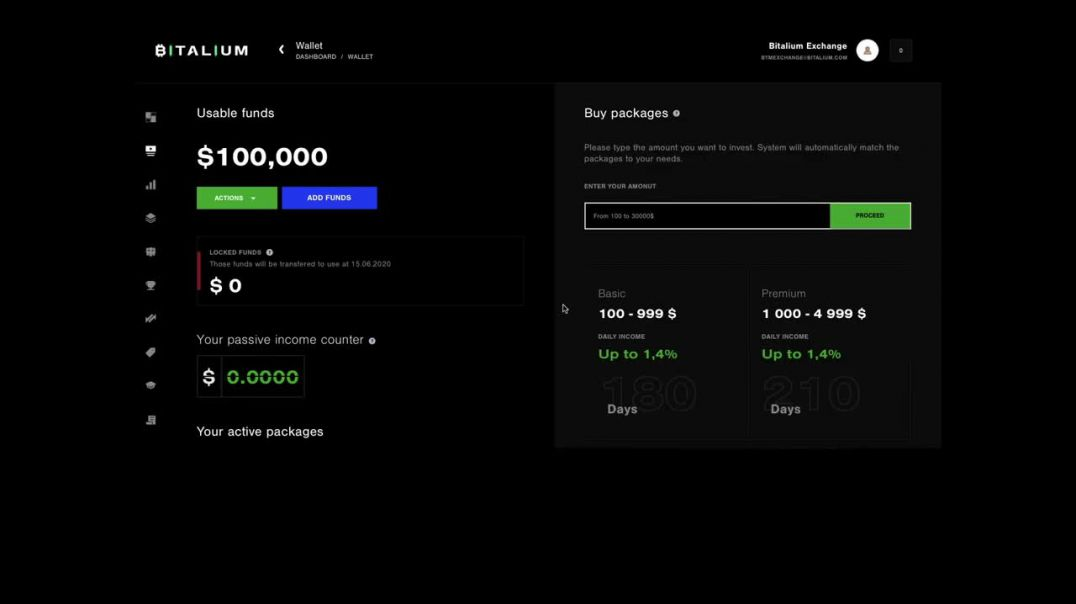 Bitalium earn bitcoin passively how to purchase a package