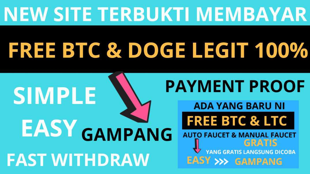 Best Free Bitcoin & Dogecoin (Faucet Legit 2020) Fast faucet terbaru