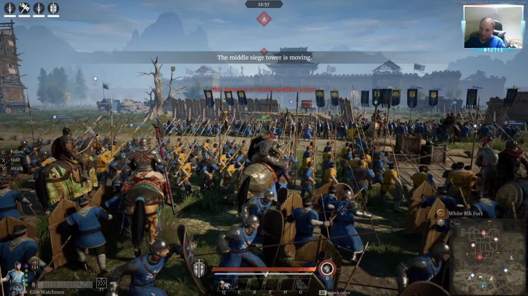 Conqueror's Blade - Siege Battle - Having fun with the house members