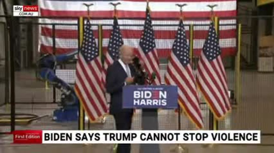 Biden claims Trump can't stop the violence playing out in US cities