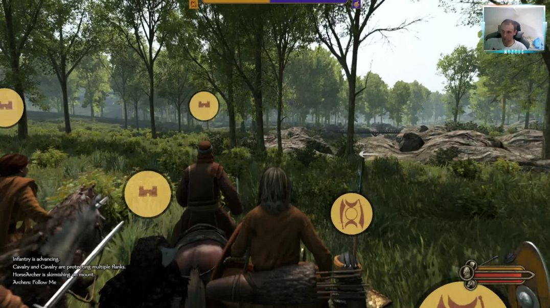 Mount & Blade - Bannerlord 2 - Two armies clash in the forest, huge battle, sandwich applied