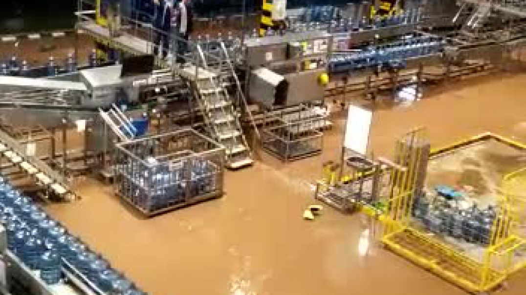Flood hit Jakarta.