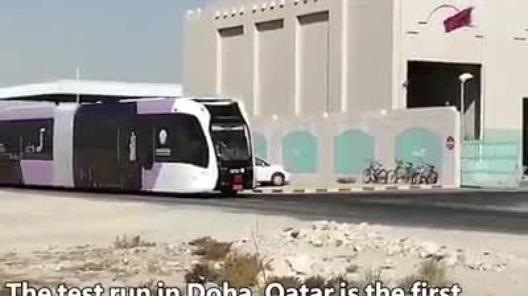 china smart electric train in qatar