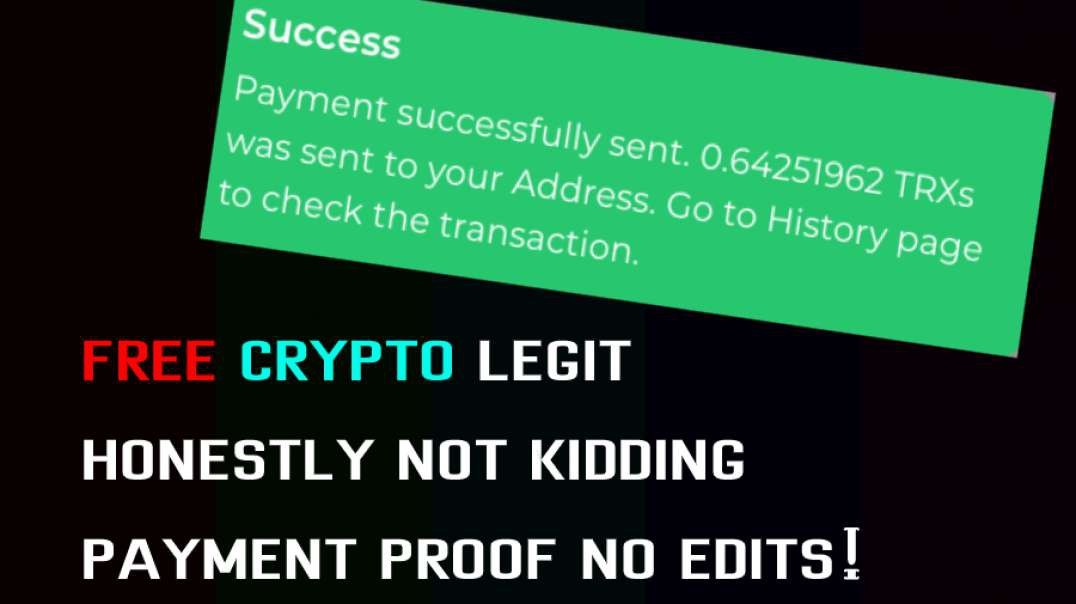 FREE LEGIT CRYPTO, PROOF AND NO EDITS (FaucetCrypto)