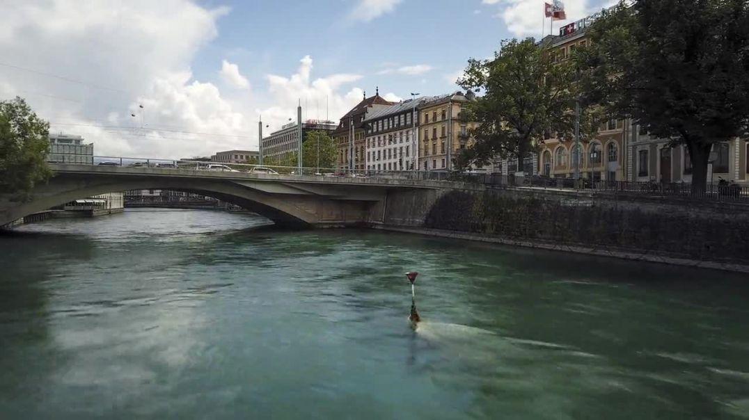 River Urban City Architecture Geneva Switzerland