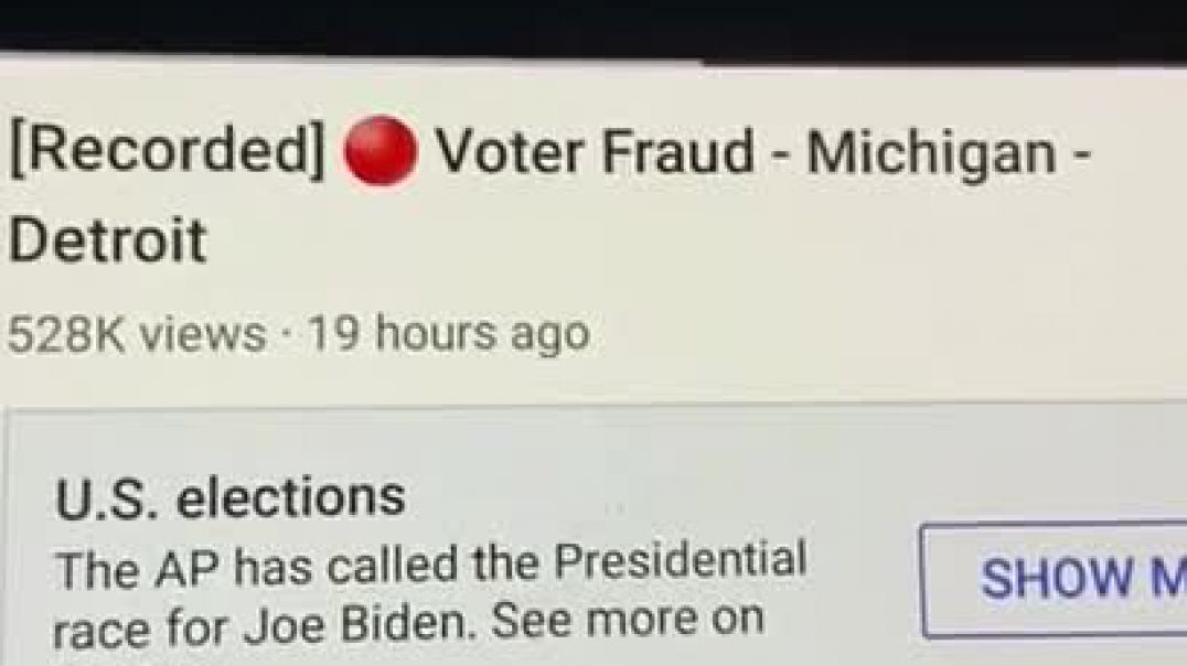 [Recorded ] Voter fraud- Michigan- Detroit