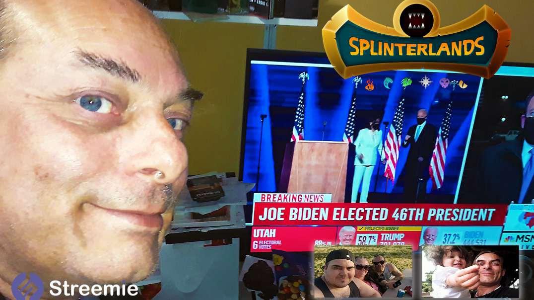 Life Quest in @splinterlands!!! Congratulations Joe Biden & Kamala Harris in becoming President