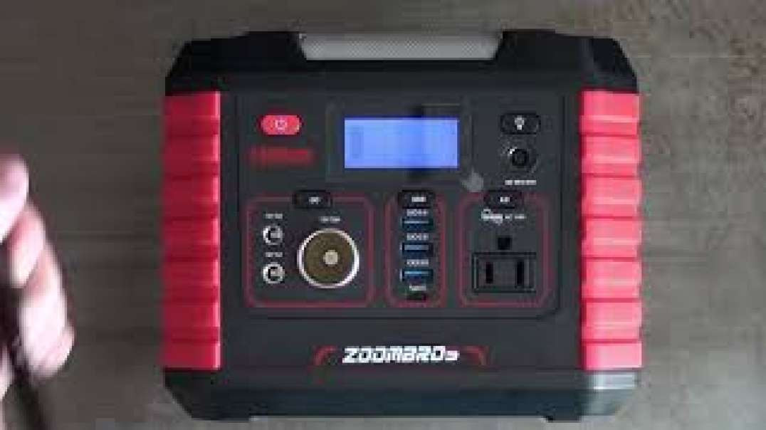Solar Generator Review Zoombros 330W Solar Powered Battery Bank